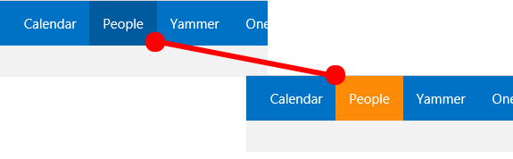 Office 365 Suite Bar - Buttons on Hover